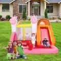 Ktaxon PVC Inflatable Bouncer House Jumper Castle,Water Slide Gun,Pool,Without Blower   Wayfair 758692194889