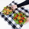 Red Barrel Studio® Large Clear Plastic Mixing & Serving Bowls, Popcorn Bowls, Salad Bowls, Chip & Dip Serving Bowls in White | Wayfair