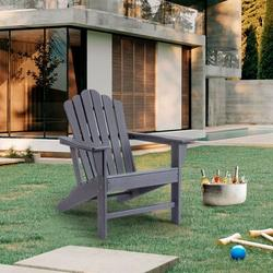 Dovecove Outdoor Adirondack Chair Plastic Folding Adirondack Chair Weather Resistant Accent Furniture Chair For Garden Porch Patio Deck Backyard Plastic/Resin
