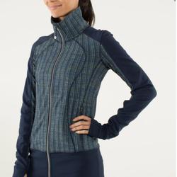 Lululemon Athletica Jackets & Coats | Lululemon Nice Asana Jacket Ziggy Wee Inkwell | Color: Blue | Size: 6