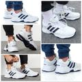 Adidas Shoes | Adidas Mens Strutter Shoes White Navy Casual Style | Color: Blue/White | Size: 12
