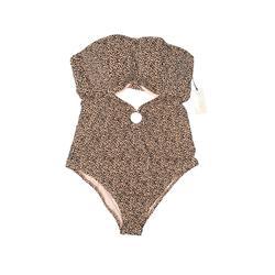 Shade & Shore One Piece Swimsuit: Pink Animal Print Swimwear - Size 1