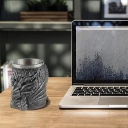 romeidata Dragon Mug Large Beer Mug Beer Steins 304 Stainless Steel Liner w/ Resin Relief Water Coffee Cup Medieval Flying Dragon Unique Game Mug Viking Tanka