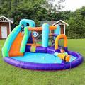 Oriufas Studio Inflatable Bounce House, Durable Indoor Outdoor Water Slide, Bouncer w/ Pool Slide, Jump & Splash Adventure Bouncy Castle | Wayfair