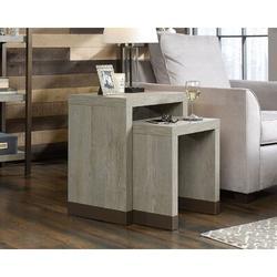 Latitude Run® Arvide 2 Piece Nesting Tables Wood in Brown/Gray, Size 23.0 H x 21.0 W x 14.0 D in   Wayfair 3D79930496BB4411957132DEC45CF325