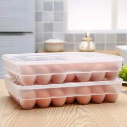 Prep & Savour Egg Holder For Refrigerator, Deviled Egg Tray Carrier w/ Lid Fridge Egg Dispenser Egg Storage Stackable Plastic Egg Containers Wayfair