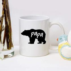 ZWISSLIV Papa Bear Coffee Mug Papa Bear Mug Fathers Day Mugs For Dad Husband Birthday Christmas Mugs For Dad From Daughter Son Birthday Mugs Coffee Mugs For Da