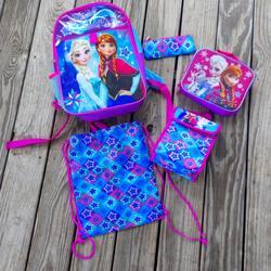 Disney Other | Disney Frozen Backpack Bundle! | Color: Blue/Purple | Size: 16 Backpack
