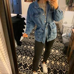 Levi's Jackets & Coats   Ashley-Vintage Charm Jean Jacket Belted Wrap   Color: Blue/Silver   Size: M