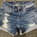 American Eagle Outfitters Shorts | American Eagle High Waisted Denim Short Shorts | Color: Blue | Size: 4