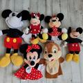 Disney Toys | Disney Mickey And Friends Plush Puppet Lot | Color: Black/Red | Size: Osbb