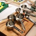 TREASURECABINET Heavy-Duty Stainless Steel Measuring Cups Set w/ Long Handles in Gray, Size 2.48 H x 7.48 W x 3.74 D in | Wayfair 47C09T01N2JYN6Y