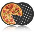 "fedigorlocn Pizza Pans w/ Holes 12 Inch 2 Pack Perforated Baking Pan Pizza Crisper Nonstick Round Pizza Baking Tray, Size 12"" W x 12.6"" L | Wayfair"