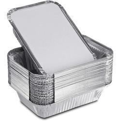 "HOU Aluminum Foil Pans w/ Lids, 7.5""X5.5""X2.5"" 30 Pack Rectangle Baking Foil Pans w/ Covers, Disposable Aluminum Pans For Cooking, Heating, Storing"