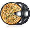 futurecitytrading Pizza Pans w/ Holes 12 Inch 2 Pack Perforated Baking Pan Pizza Crisper Nonstick Round Pizza Baking Tray | Wayfair