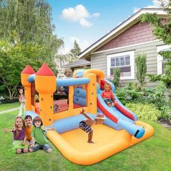 Ktaxon Inflatable Bounce House w/ Ball Pit,Slide,Water Gun(No Blower) | Wayfair 260202605872