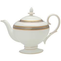 Noritake Brilliance 36 -oz. Bone China Teapot Bone China in Gray/White, Size 7.5 H x 5.75 W x 9.5 D in | Wayfair 4824-427
