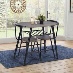 17 Stories 3 - Piece Breakfast Nook Dining Set Wood/Metal in Black/Brown/Gray, Size 29.5 H in | Wayfair 4ABA45450F0F462ABB83067D3647D182