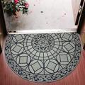 Alcott Hill® Decorative Doormat Outdoor Rubber Mat For Front Door Entrance Mat Indoor 2X3 Rug For Front Door Entry Non Slip Mat Outside Doormat Half Round