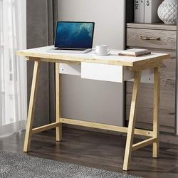 """Latitude Run® 40"""" Computer Desk, Home Office Desk w/ Storage Drawer, Study Writing Desk For Home Office & Computer Games, Simple Style Study Table"""