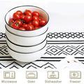 Latitude Run® Large Salad Bowls, Porcelain Soup Bowls Stackable Round Soup Serving Bowl Cereal Bowls For Soup, Salad, Oatmeal Salad Bowl Set Of 4