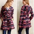 Anthropologie Jackets & Coats   Anthro Tabitha Leona Patterned Hooded Wrap Jacket   Color: Blue/Pink   Size: S