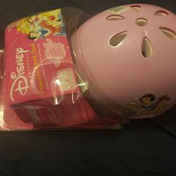 Disney Toys   Disney Child Helmet With Elbow And Knee Pads   Color: Pink   Size: Osbb