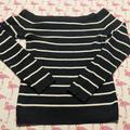 American Eagle Outfitters Sweaters | American Eagle Black White Off Shoulder Sweater M | Color: Black/White | Size: M
