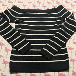 American Eagle Outfitters Sweaters   American Eagle Black White Off Shoulder Sweater M   Color: Black/White   Size: M