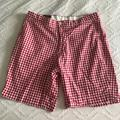 Polo By Ralph Lauren Shorts   Polo Ralph Lauren Mens Gingham Shorts   Color: Red/White   Size: 35