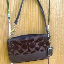 Coach Accessories | Coach Coin Purse That Can Be Used As A Mini Purse | Color: Brown | Size: Os