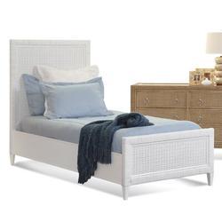 Braxton Culler Naples Standard 6 Piece Bedroom Set Wood/Wicker/Rattan in Blue, Size Twin   Wayfair