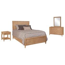 Braxton Culler Naples Standard 6 Piece Bedroom Set Wood/Wicker/Rattan in Blue, Size King | Wayfair
