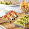 Latitude Run® Taco Holders 3 Pack, Stainless Steel Taco Stands Holds 2 To 3 Tortillas, Oven Grill Microwave Safe Stainless Steel in Gray   Wayfair