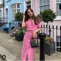 Zara Jackets & Coats | Gorgeous Zara Nwt Gold Buttons Tweed Blazer | Color: Pink | Size: Various