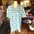 Columbia Shirts | Mens Columbia Pfg Button Down Fish Shirt | Color: Blue/Green | Size: L