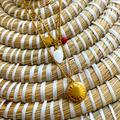 Madewell Jewelry | New Madewell Engraved Locket Set Of 2 Necklace | Color: Gold/Red | Size: Os
