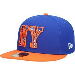 """Men's New Era Royal York Knicks 2021 NBA Draft 59FIFTY Fitted Hat"""
