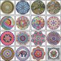 Peinture de diamant en forme de fleur de Mandala, broderie 5D, image 3D, cadeau de noël pour