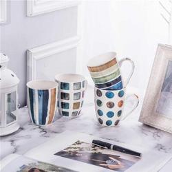 zhong_hua Set Of 4 11.5Oz Marble Patterns Coffee Mugs, Ceramic Tea Cup Set, Size 4.6 H x 3.4 W in   Wayfair 2770A0081484LL7