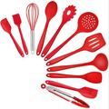 SpicyMedia Kitchen Cooking Utensils, 11 PCS Silicone Cooking Utensils Spatula Set Heat Resistant For Nonstick Cookware in Red | Wayfair
