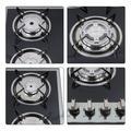 "Lomana 30"" Gas Cooktop w/ 4 Burners in Black, Size 1.5 H x 20.0 W x 30.3 D in | Wayfair M1792"