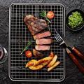 MingshanAncient 6 Piece Baking Sheets w/ Cooling Rack Set,16 X 12 X 1 Inch Stainless Steel Cookie Sheet & Wire Rack & Baking Mat For Baking | Wayfair