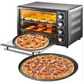 tokyolongco Pizza Pans w/ Holes, Round Pizza Baking Tray, 2 Pack Perforated Pizza Crisper Pan w/ Non-Stick Coating in Black   Wayfair