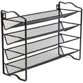 Prep & Savour Spice Rack Organizer w/ 24 Empty Round Spice Jars, 396 Spice Labels w/ Chalk Marker & Funnel Complete Set, For Countertop in Black
