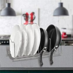 Prep & Savour Pan Pot Lid Holder Organizer Pot Rack, Kitchen Organizer Set For Pots & Pans, Lids, Plates, Cutting Boards, Bakeware, Cooling Rack
