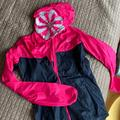 Nike Jackets & Coats | Nike Womens Running Rain Jacket S Hooded Pink | Color: Black/Pink | Size: S