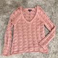 American Eagle Outfitters Sweaters   American Eagle, Open Crochet Sweater, Size M   Color: Pink   Size: M