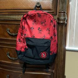 Disney Accessories   Black & Red Mickey Mouse Backpack   Color: Black/Red   Size: Standard Backpack Size