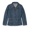 DL1961 Rocco Parka Denim Jean Jacket Sz 10-12 Girls Mankato Blue Drawstring Snap